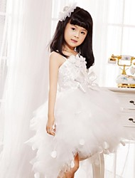 Snow Princess Tutu Dress Kids Christmas Costume