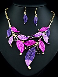 Women's Fashion Noble Leaves Jewelry Sets:Necklace And Earrings(More Colors)