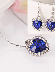 Women Cute/Party/Casual Gold Plated/Alloy/Cubic Zirconia Necklace/Earrings Sets