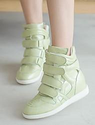 zapatos de las mujeres del dedo del pie redondo zapatillas de deporte de moda tacón de cuña zapatos más colores disponibles