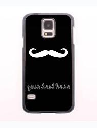 personalisierte Telefonkasten - weißen Schnurrbart Design-Metall-Gehäuse für Samsung Galaxy mini s5