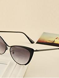 100% UV400 Cat-Eye Metal Retro Sunglasses