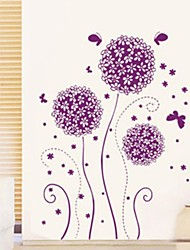 Wall Stickers Wall Decals Purple Flower Decorative Sticker