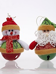 15cm Santa Claus Hanging Doll with Bell 2pcs (Random Stytle)