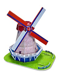Develop Thinking Skills DIY 3D Paper Jigsaw Puzzle - Holland Windmill (45PCS)