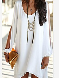 Osim Women's Fashion V-Neck Chiffon Dress