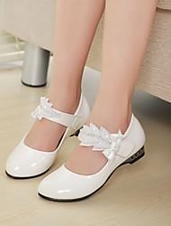 Pompes / Talons ( Noir/Blanc ) - Simili Cuir - Chaussures à talons
