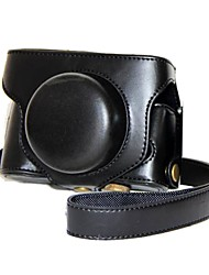 Etuis-Une épaule-Appareil photo numérique-Fujifilm-Résistant à la poussière-Noir Café Marron