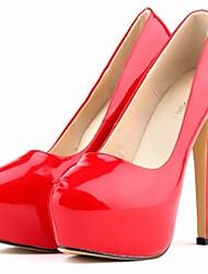 zapatos de las mujeres del estilete del dedo del pie de charol talón ronda Bombas partido&zapatos de noche más colores disponibles