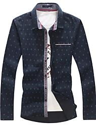Men's High Quality Cotton Leisure Cowboy Long Sleeve Shirt
