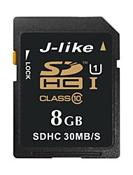 J-Like 8Go Classe 10 / UHS-I U1 SD/SDHC/SDXCMax Read Speed30 (MB/S)Max Write Speed15 (MB/S)