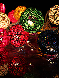 20LED 2.5m Christmas Decorative Rattan String Lights (AC220V) ,Random Color