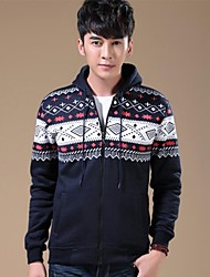 Men's Ethnic Print Thickened Sport Casual Coat