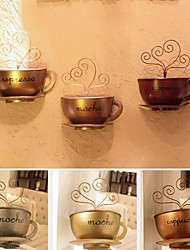 Metal Wall Art Wall Decor, Coffee Cup Wall Decor Set of 2