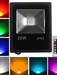 1 High Power LED 1600 LM RGB Remote-Controlled LED Flood Lights AC 85-265 V