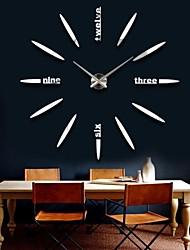"39""W DIY 3D Big Digital Mirror Sticker Wall Clock Modern Art Wall Clocks Watch Unique Gifts Home Decoration"