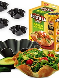 novas 4pcs / lot perfeito salada tortilla molde baking tigela assadeira