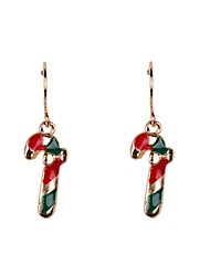 Fashion Christmas Crabstick Christmas Earrings