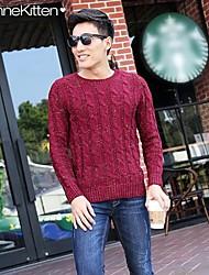 JoanneKitten® Men's Thread Pattern Long Sleeve Knitted Sweater