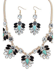 Women's Fashion Cute Diamond Bohemia Necklace Set