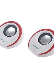 SVO T3  Protable USB 2.0 Mini Speaker for PC / Cellphone / MP3 / DVD 1-Pair
