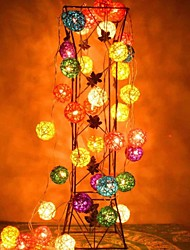 JIAWEN® 4M 20LEDs RGB LED Rattan Ball  String Light Christmas String Light For Decoration (AC 110-220V)