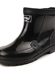 Chaussures Hommes Extérieure Noir PVC Bottes