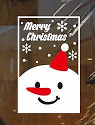Wall Stickers Wall Decals,  Modern Christmas Snowman window stickers PVC Wall Stickers