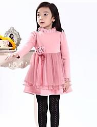 Girl's Pink / Purple / Red Dress Cotton / Mesh Winter