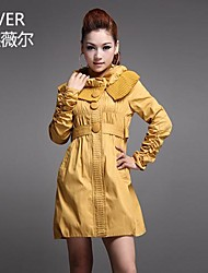 LIFVER Women's® Han Edition women's Trench Coat Cultivate one's Morality