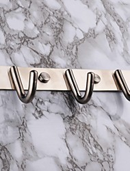 towel hooks,set of 3 Contemporary Brushed Stainless steel Wall  Mounted