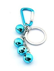 Four Bells Style Key Ring  Bluish Green  Silver Toys