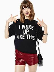 Europäische und amerikanische Modelle fallen ich wachte wie diese Briefe gedruckt Freizeit Hedging Pullover weiblich