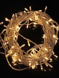 z®zdm 10m 9.6W noël éclair 100 lampe led blanc chaud / froid bande de lumière blanche lumière (plug eu, ac 220v)