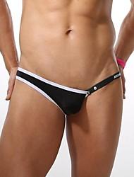 dos homens zhengli® lingerie sexy cinco cores de alta qualidade de poliéster fino t-back dos homens unilaterais