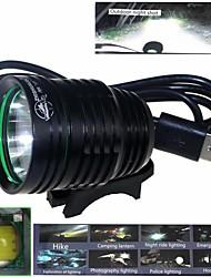 ZHISHUNJIA  Waterproof 3-Mode 1xCree XM-L2 U2 High Power Bike Lamp (900LM ,USB 5V,Black)