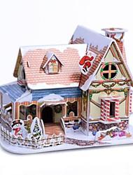 desenvolver habilidades de pensamento quebra-cabeça de natal diy papel-cabeça 3d - Christmas Cottage b368-1 (40pcs)