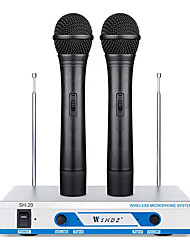 Shdz Sh-20 Wireless Dynamic Microphone Set for Computers and Karaoke