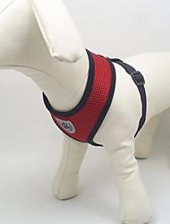 Cães Arreios Respirável Vermelho / Preto / Azul / Rosa Téxtil / Com Transparência