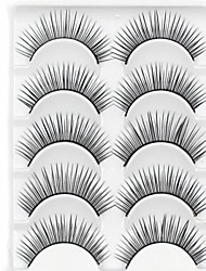New 5 Pairs Black Fiber Natural Looking Long False Eyelashes Eyelash Eye Lashes for Eye Extensions
