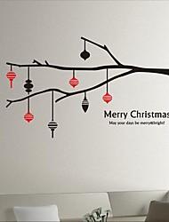autoadesivi della parete decalcomanie della parete, moderni rami di albero di Natale lanterna adesivi murali in pvc