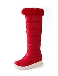 botas de mujer botas de nieve botas altas hasta la rodilla bajo el talón más colores disponibles