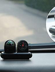 Black Mini Vehicle Navigation  Compass Thermometer Ball