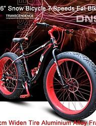 """7 vitesses 26 """"neige nds vélo graisse vélo largeur de 4cm de pneus ™ montagne terrain bicicleta Transmission Shimano"""