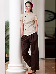 SPA Uniforms Women's Short Sleeve Mandarin Collar Spa Smock