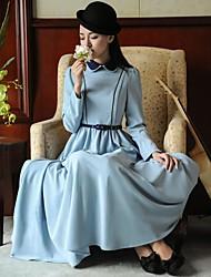 Incern®Women's Vintage Elegant Slim Long Dress