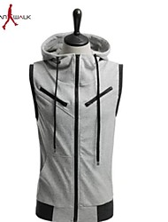 MANWAN WALK®Men's Fashion Design Sleeveless Hoodie.