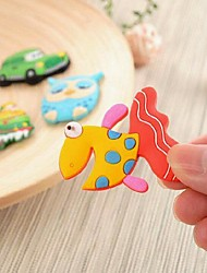 2Pcs Cute Animal PVC Magnetic Fridge Stickers (Random Delivery)