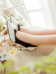 Stiletto bico fino couro de patente das mulheres bombeia sapatas (mais cores)