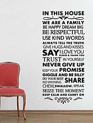 jiubai® домой правило цитата наклейки наклейки на стены, 57см * 125см